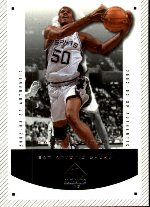 2002-03 SP Authentic #83 David Robinson