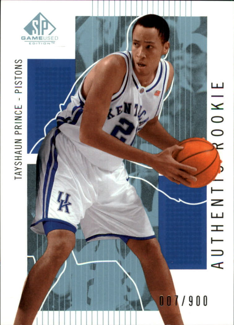 2002-03 SP Game Used #120 Tayshaun Prince RC