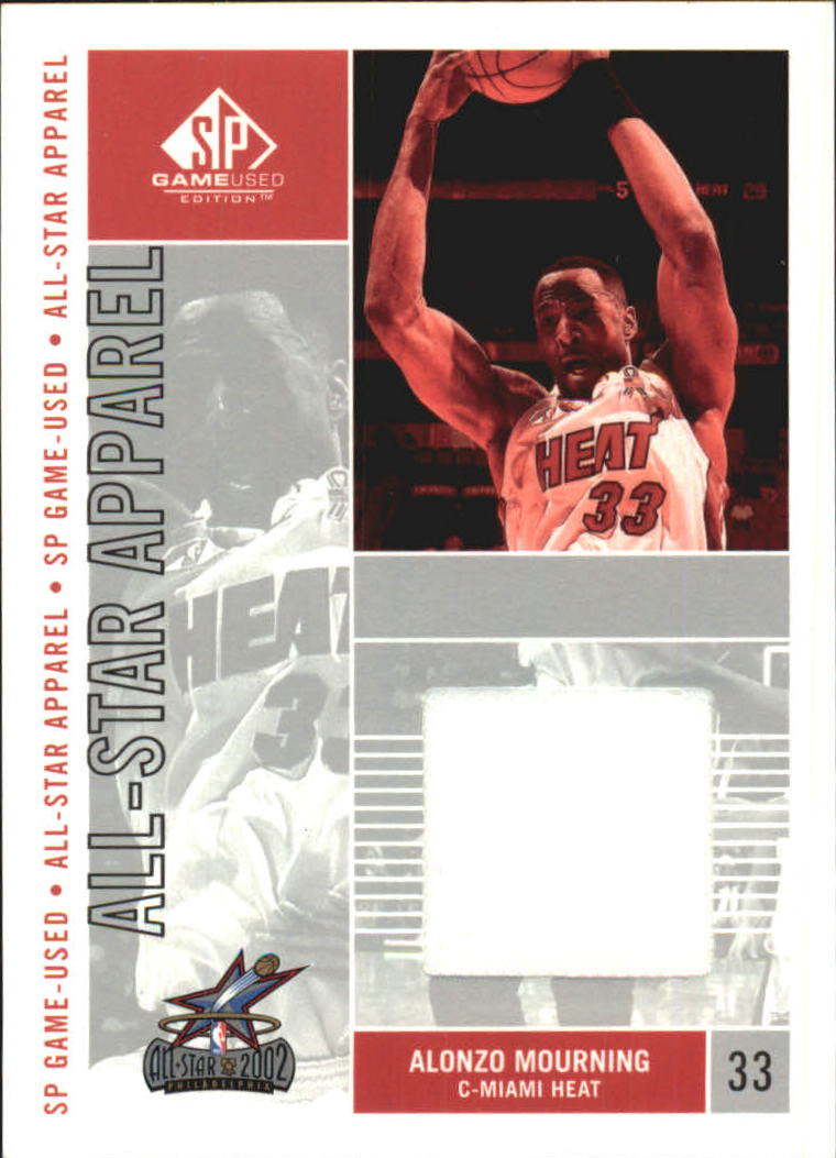 2002-03 SP Game Used All-Star Apparel #AMAS Alonzo Mourning