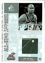 2002-03 SP Game Used All-Star Apparel #GPAS Gary Payton
