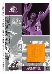 2002-03 SP Game Used All-Star Apparel #MGAS Magic Johnson front image