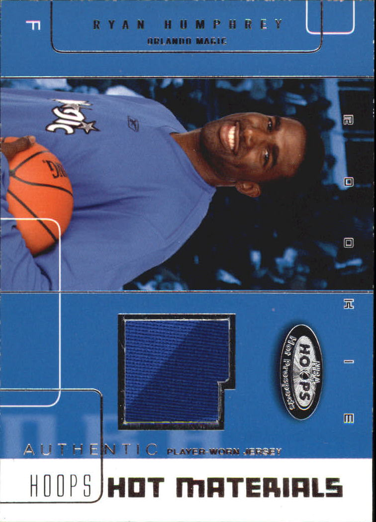2002-03 Hoops Hot Prospects Hot Materials #43 Ryan Humphrey