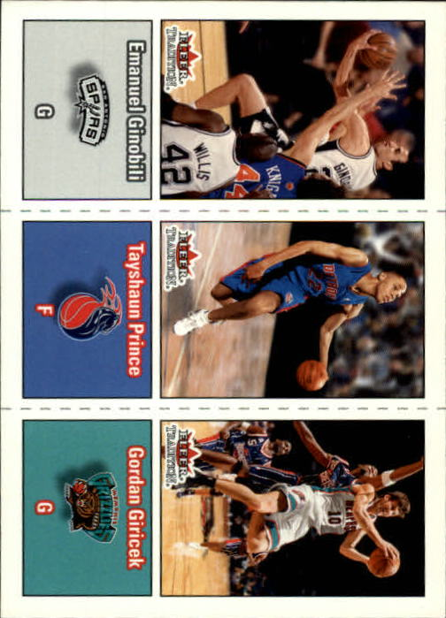 2002-03 Fleer Tradition #272 Manu Ginobili RC/Tayshaun Prince RC/Gordan Giricek RC