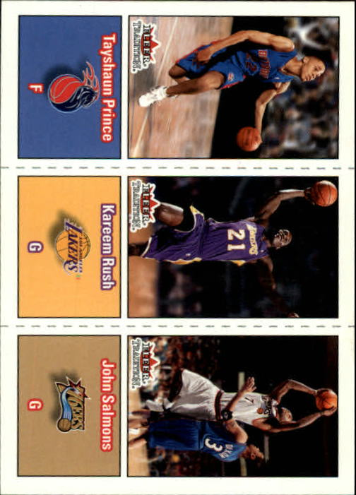 2002-03 Fleer Tradition #284 Tayshaun Prince RC/Kareem Rush RC/John Salmons RC