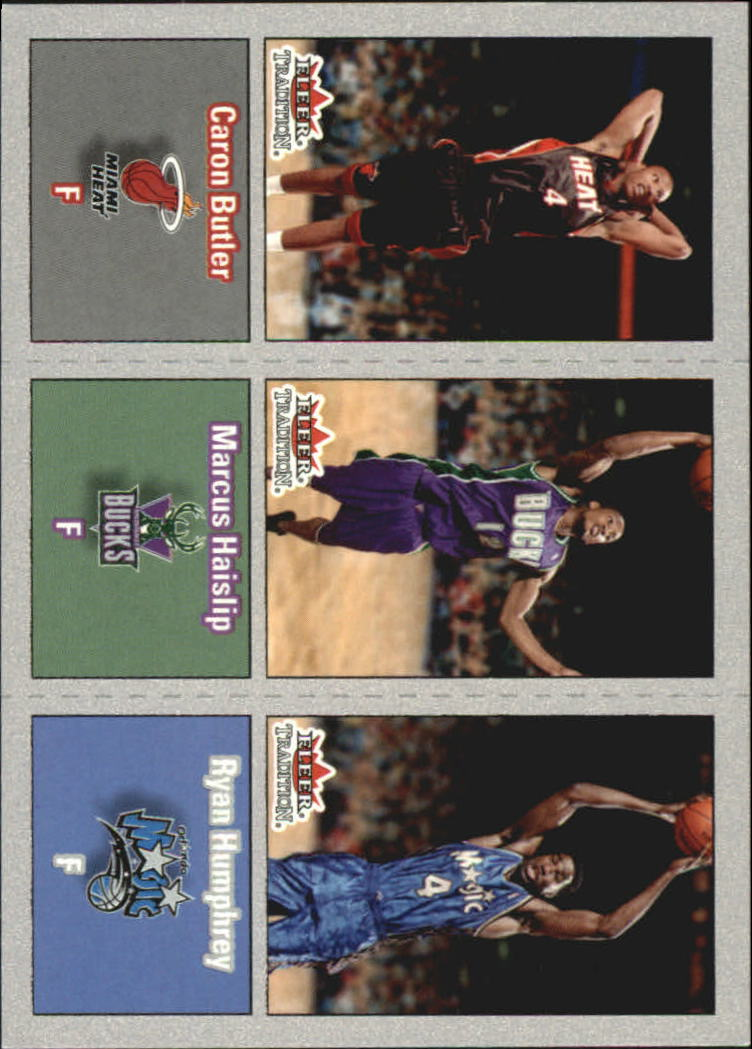 2002-03 Fleer Tradition Crystal #278 Caron Butler/Marcus Haislip/Ryan Humphrey