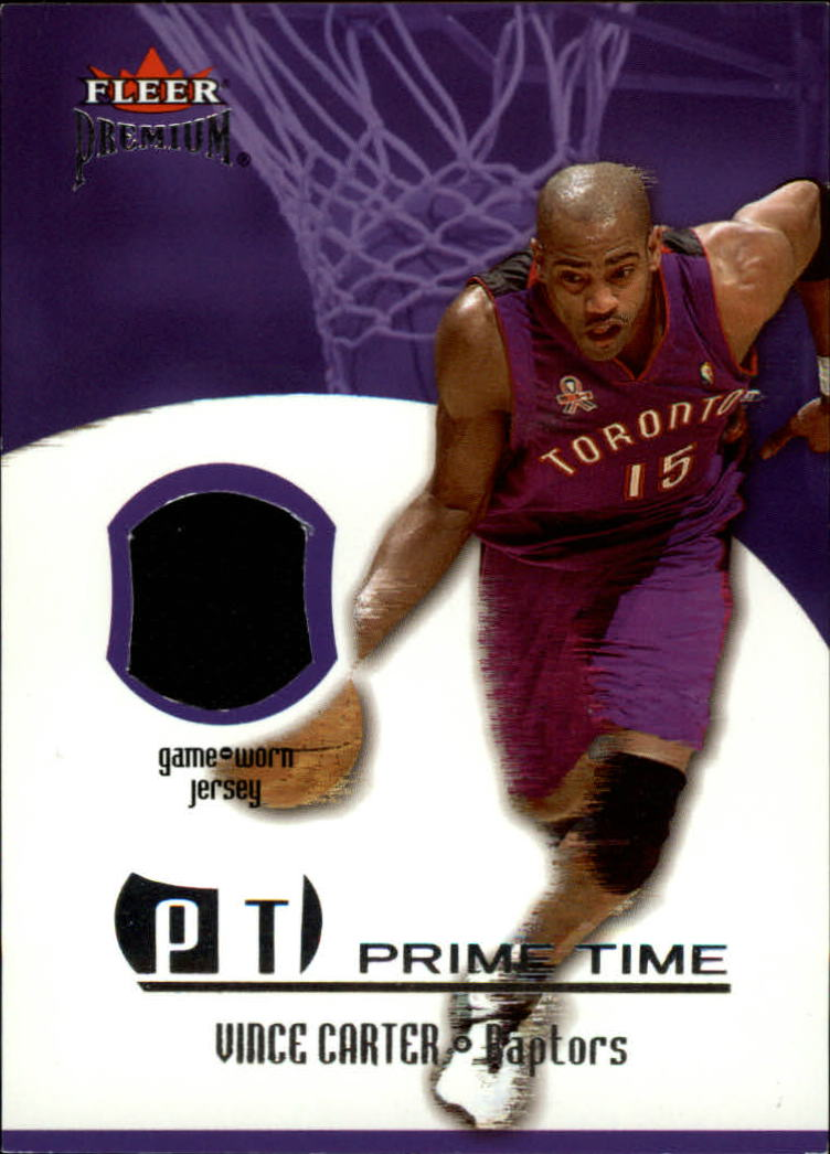 2002-03 Fleer Premium Prime Time Game Used #1 Vince Carter
