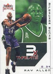 2002-03 Fleer Premium Triple Threats Ruby #4 Ray Allen