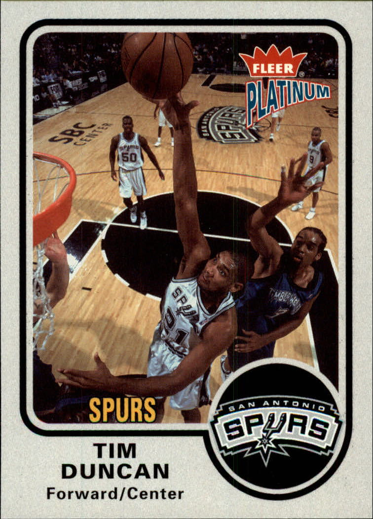 2002-03 Fleer Platinum #63 Tim Duncan
