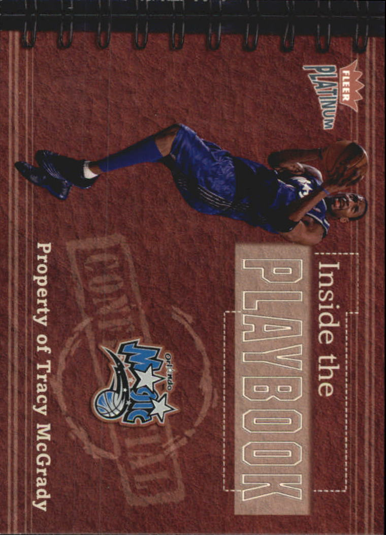 2002-03 Fleer Platinum Inside the Playbook #4PB Tracy McGrady