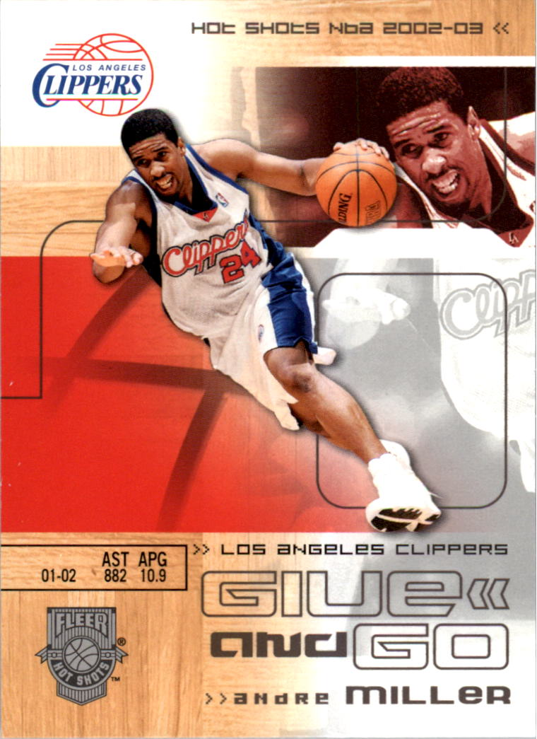 2002-03 Fleer Hot Shots #111 Andre Miller/Lamar Odom