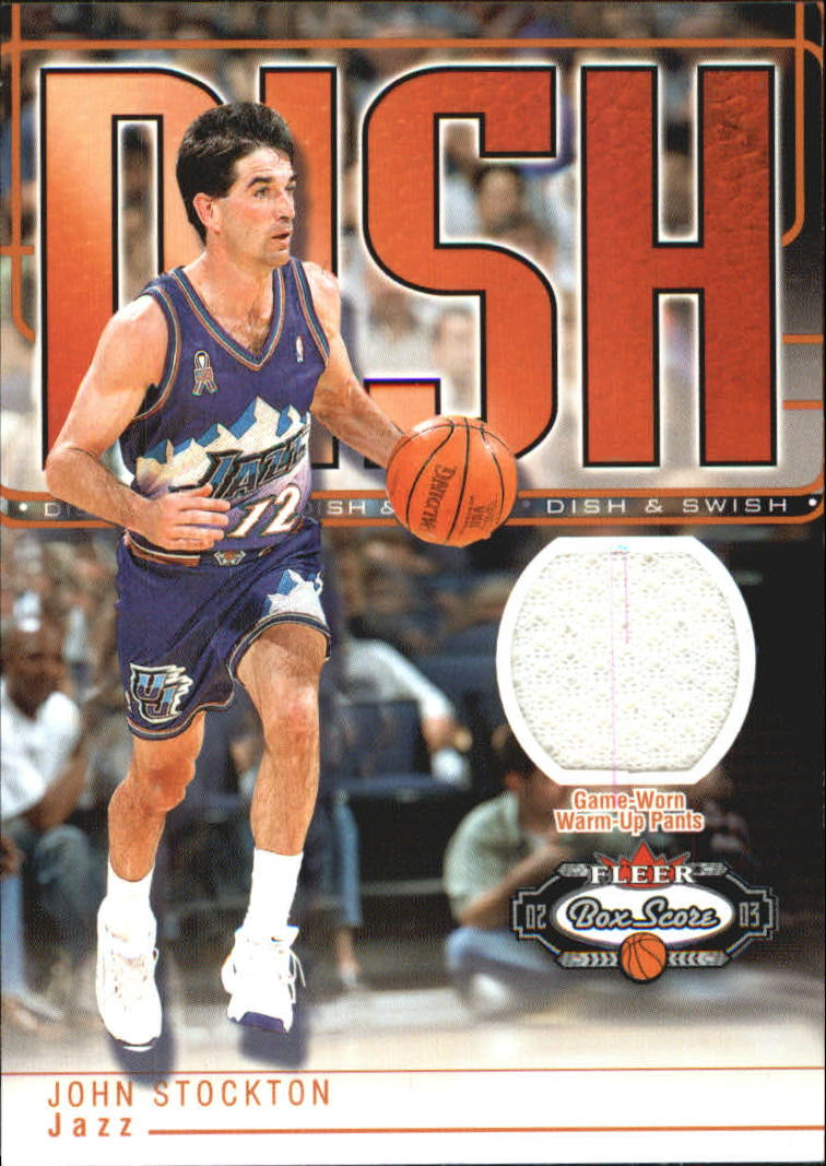 2002-03 Fleer Box Score Dish and Swish Memorabilia #DSM15 John Stockton Pants