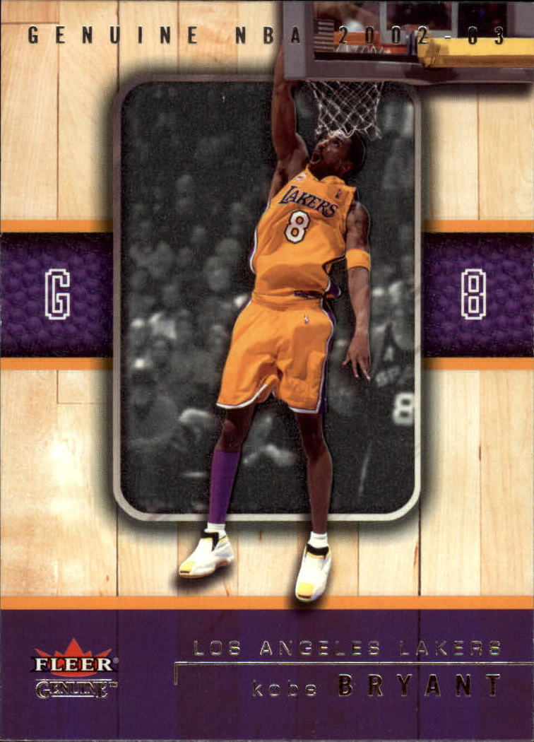 2002-03 Fleer Genuine #4 Kobe Bryant