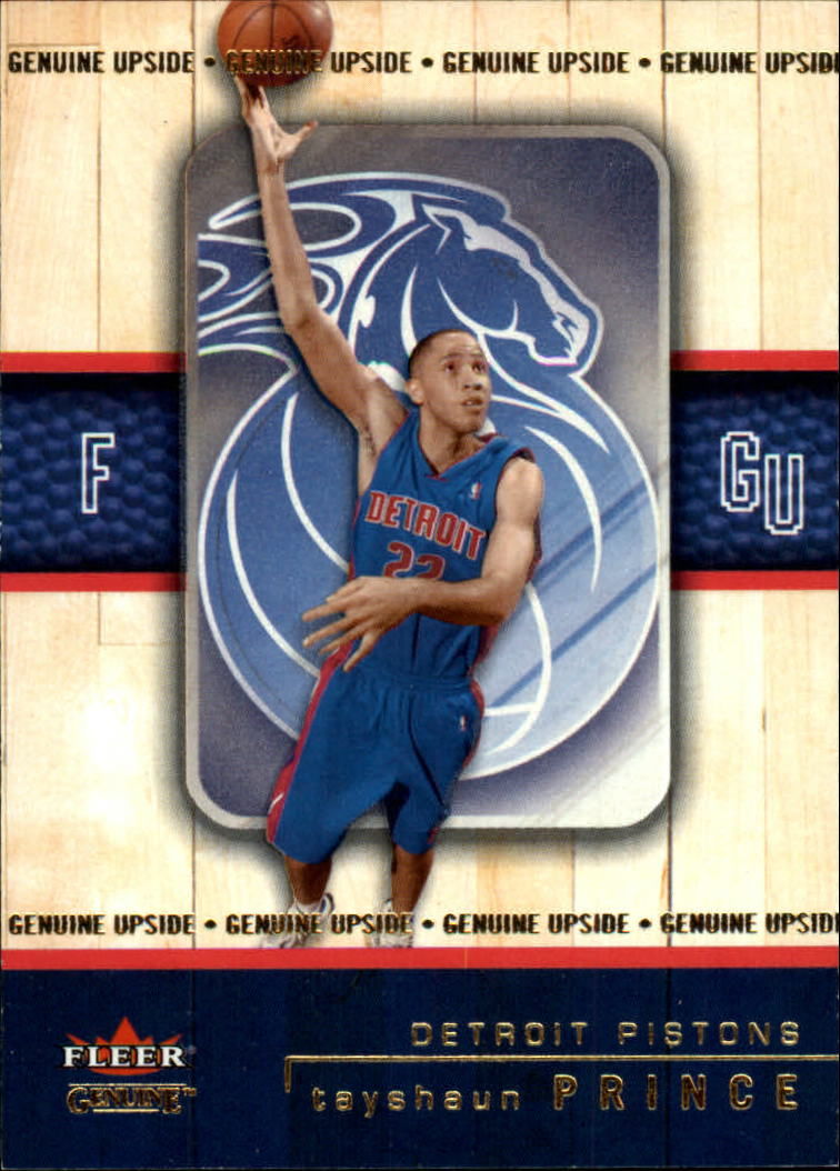 2002-03 Fleer Genuine #126 Tayshaun Prince RC