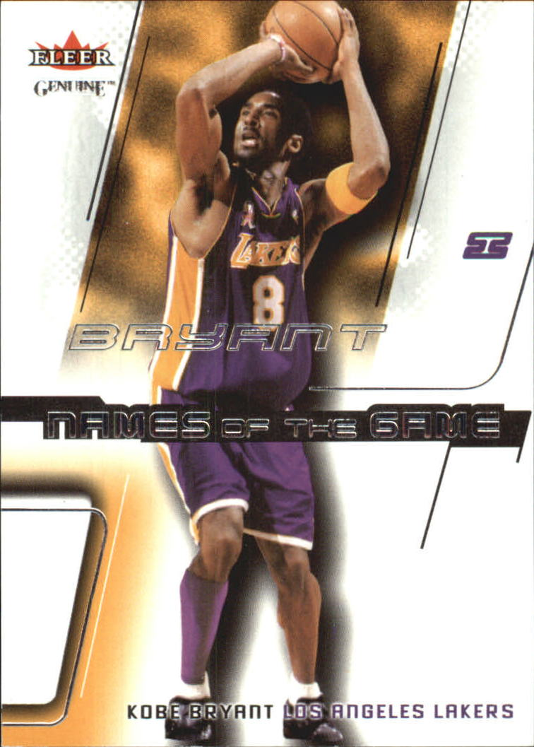 2002-03 Fleer Genuine Names of the Game #1 Kobe Bryant