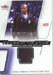 2002-03 Fleer Genuine Names of the Game Jerseys #6 Vince Carter