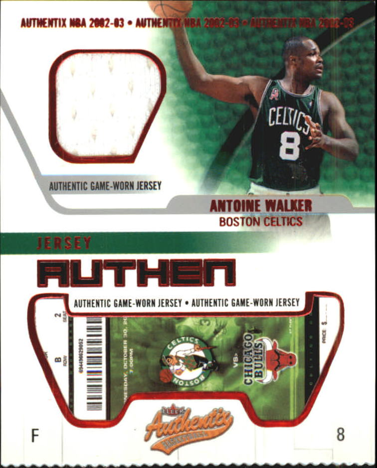 2002-03 Fleer Authentix Jersey Authentix #2 Antoine Walker