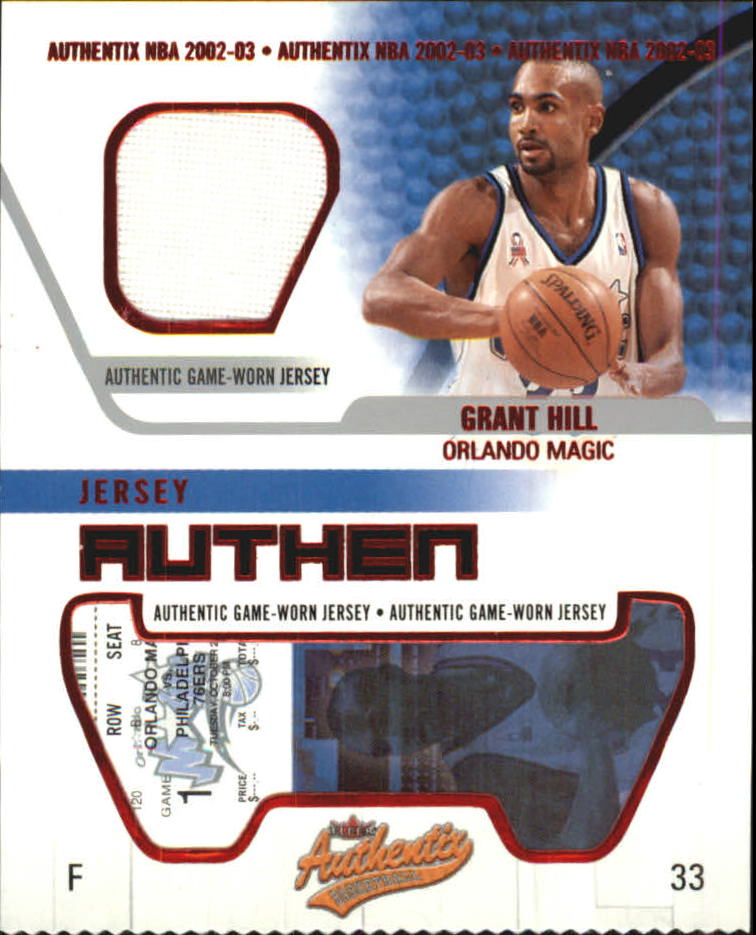 2002-03 Fleer Authentix Jersey Authentix #20 Grant Hill