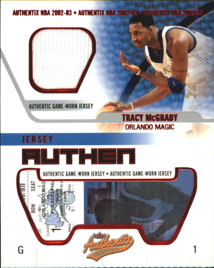 2002-03 Fleer Authentix Jersey Authentix #21 Tracy McGrady