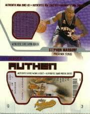 2002-03 Fleer Authentix Jersey Authentix #25 Stephon Marbury