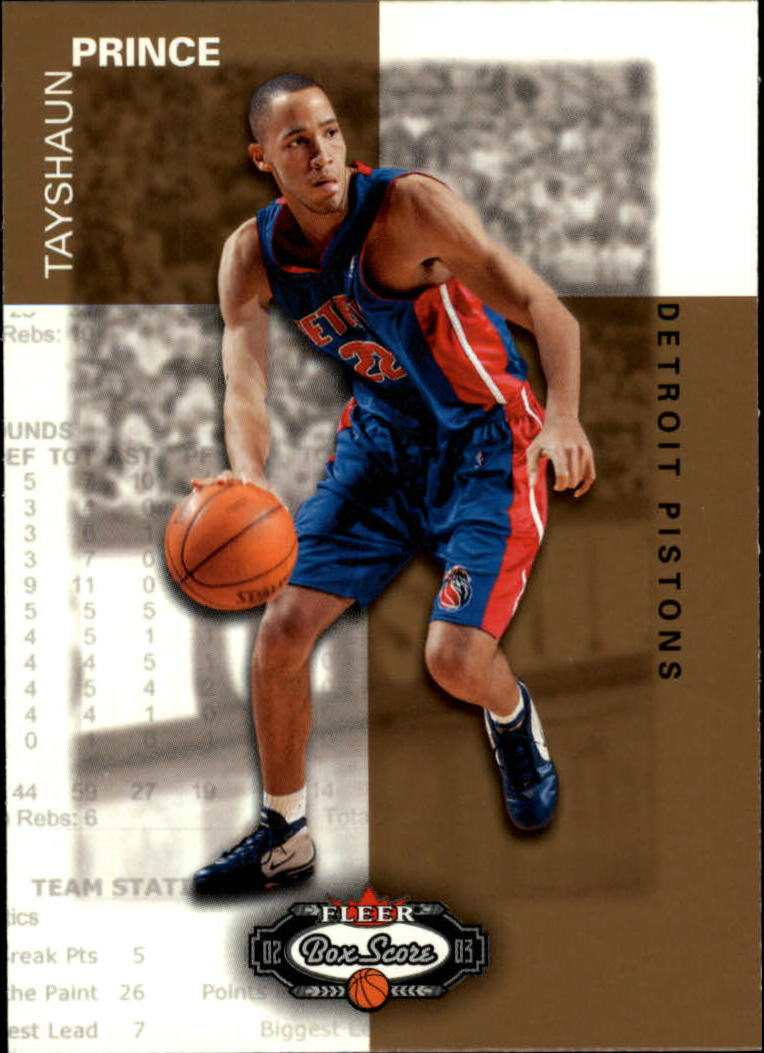 2002-03 Fleer Box Score #155 Tayshaun Prince RS RC