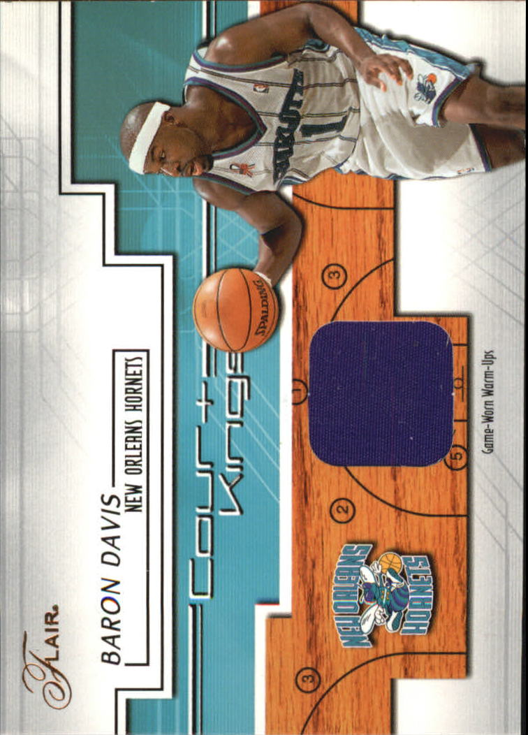 2002-03 Flair Court Kings Game Used #CKBD Baron Davis