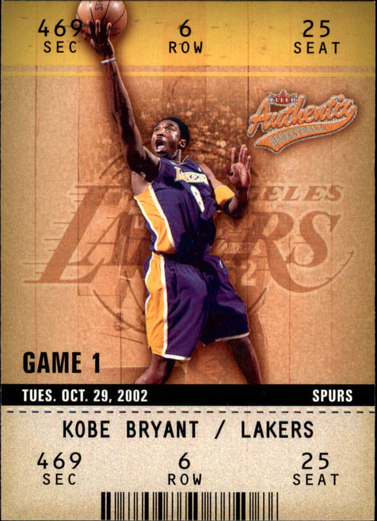 2002-03 Fleer Authentix #17 Kobe Bryant