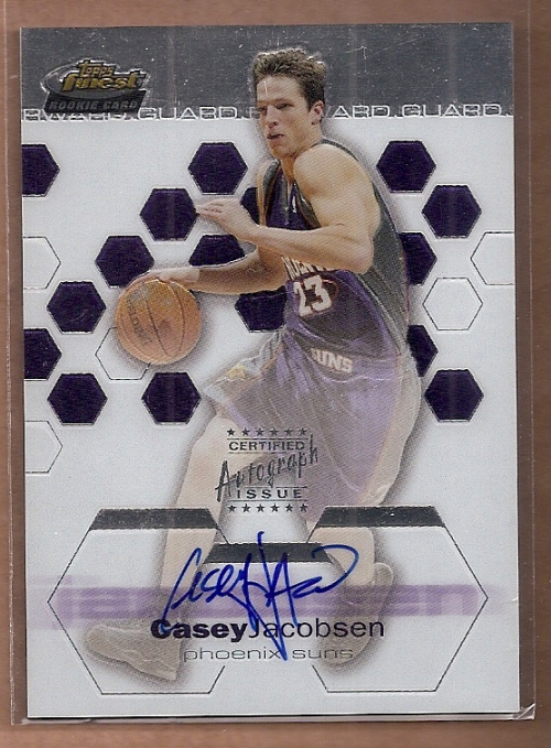 2002-03 Finest #159 Casey Jacobsen AU RC