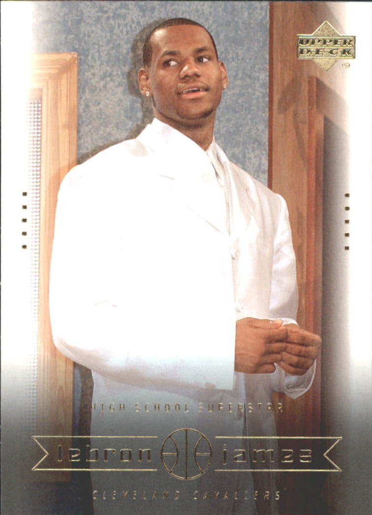 2003 Upper Deck LeBron James Box Set #7 LeBron James/High School Superstar