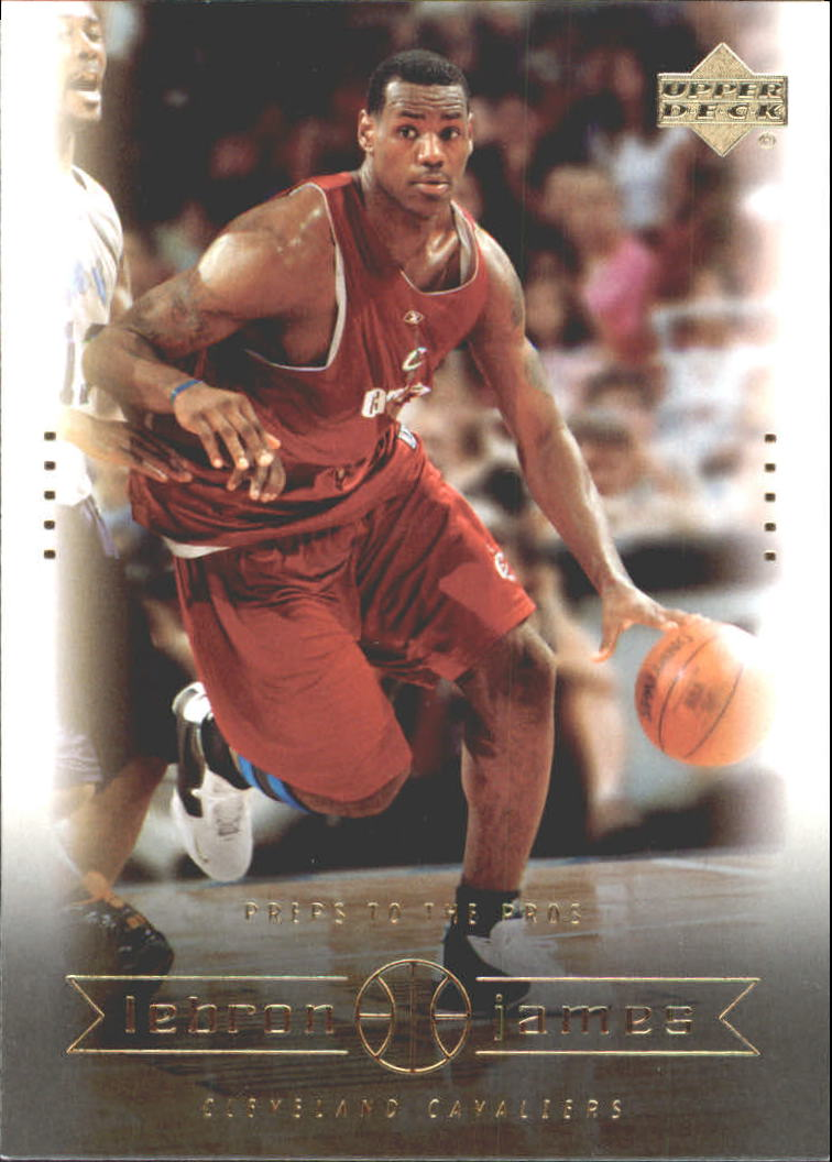2003 Upper Deck LeBron James Box Set #11 LeBron James/Preps to the Pros