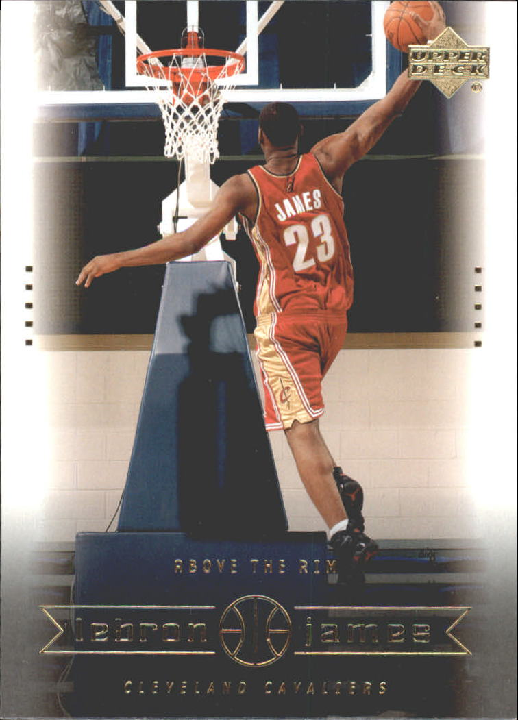 2003 Upper Deck LeBron James Box Set #22 LeBron James/Above the Rim