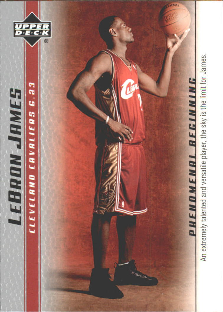 2003-04 Upper Deck Phenomenal Beginning LeBron James #1 LeBron James/An extremely talented