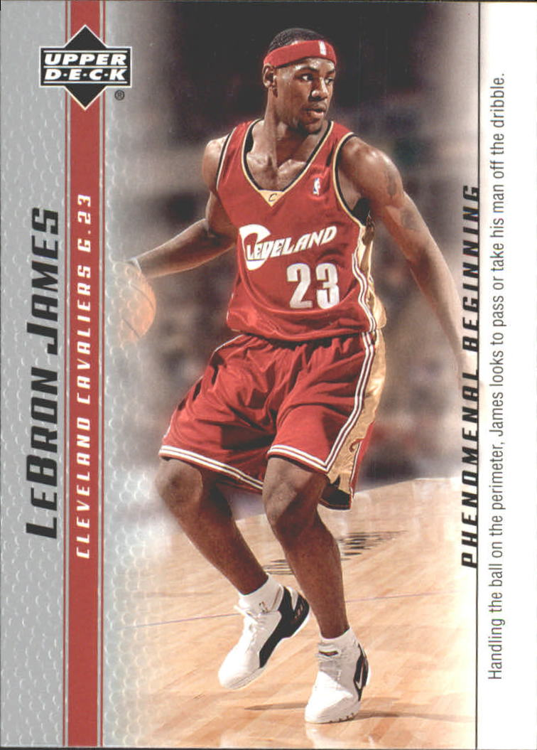 2003-04 Upper Deck Phenomenal Beginning LeBron James #2 LeBron James/Handling the ball