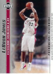 2003-04 Upper Deck Phenomenal Beginning LeBron James #3 LeBron James/James quickly elevates