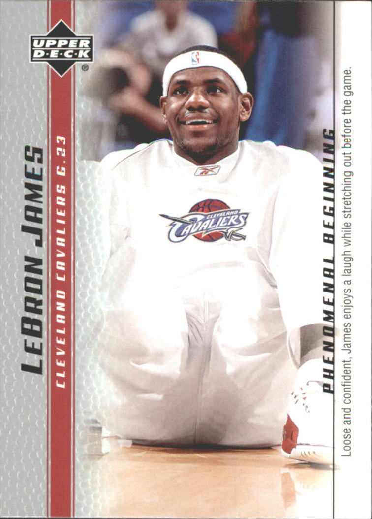 2003-04 Upper Deck Phenomenal Beginning LeBron James #4 LeBron James/Loose and confident