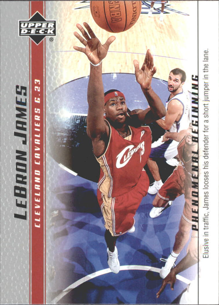 2003-04 Upper Deck Phenomenal Beginning LeBron James #6 LeBron James/Elusive in traffic