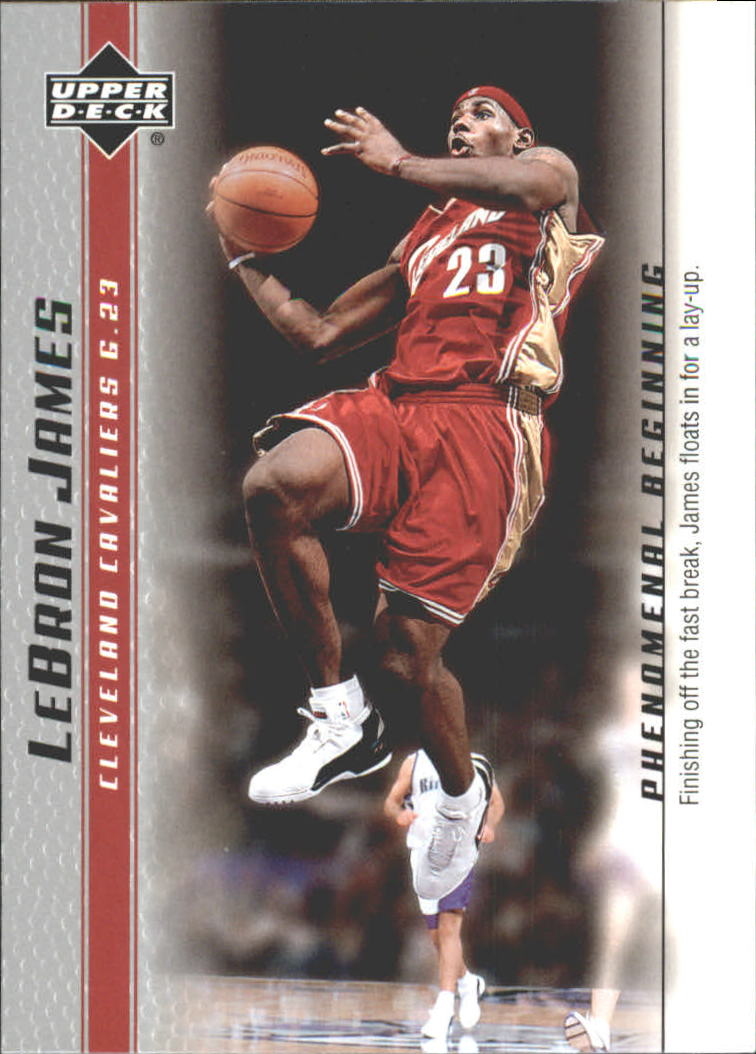 2003-04 Upper Deck Phenomenal Beginning LeBron James #7 LeBron James/Finishing off the fast