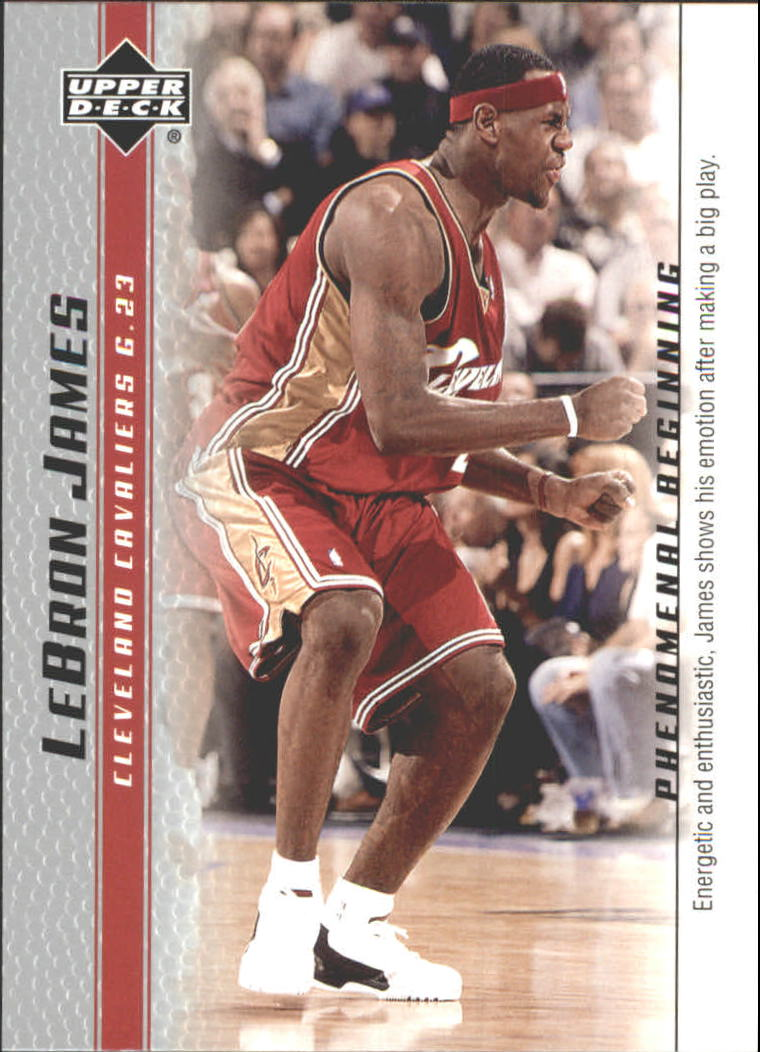 2003-04 Upper Deck Phenomenal Beginning LeBron James #8 LeBron James/Energetic and enthusiastic