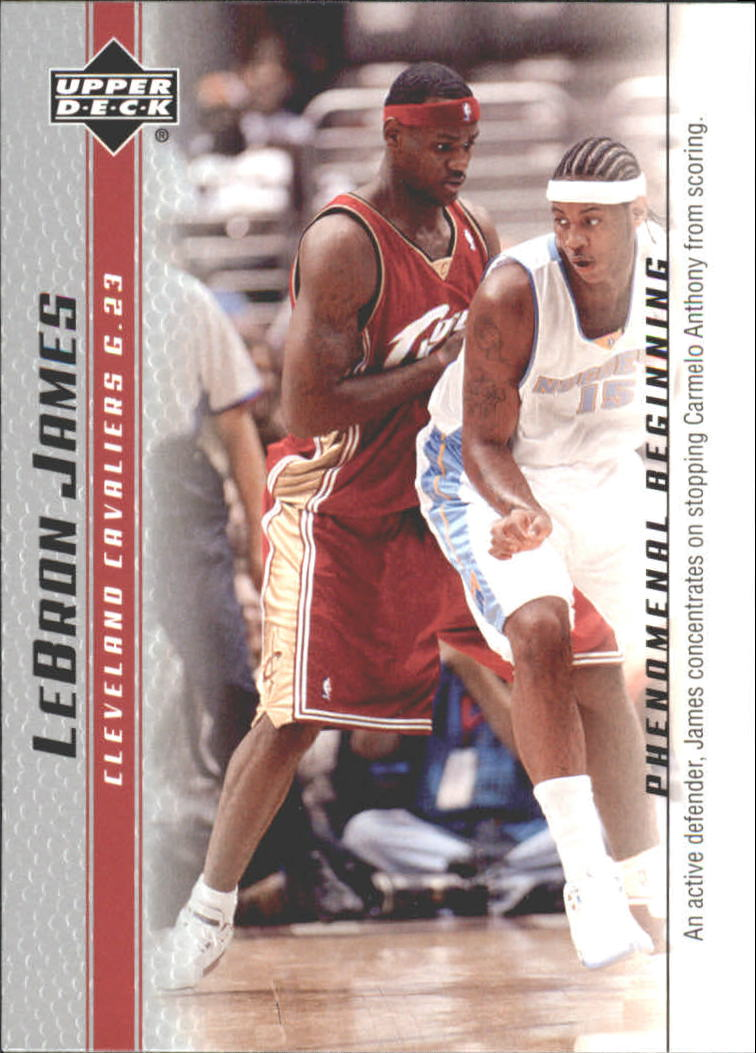 2003-04 Upper Deck Phenomenal Beginning LeBron James #9 LeBron James/An active defender