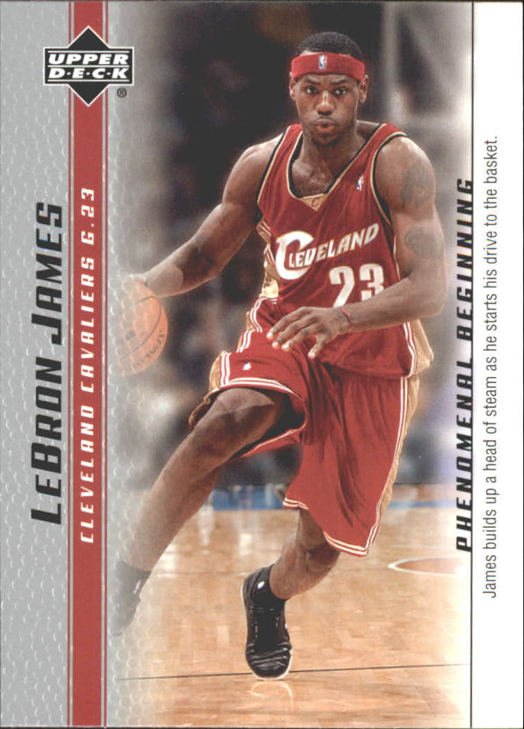 2003-04 Upper Deck Phenomenal Beginning LeBron James #11 LeBron James/James builds up