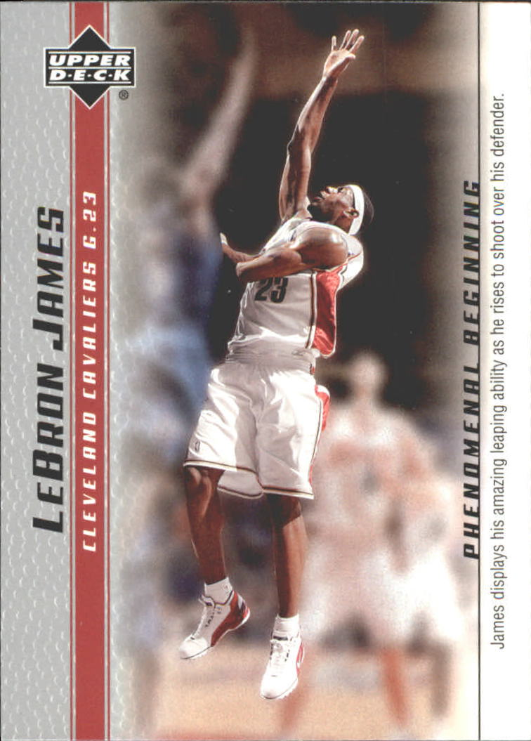 2003-04 Upper Deck Phenomenal Beginning LeBron James #12 LeBron James/James displays