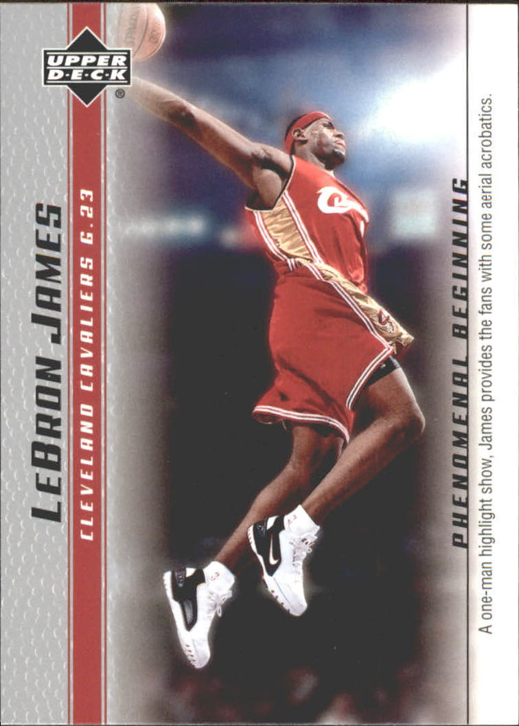 2003-04 Upper Deck Phenomenal Beginning LeBron James #13 LeBron James/A one man highlight