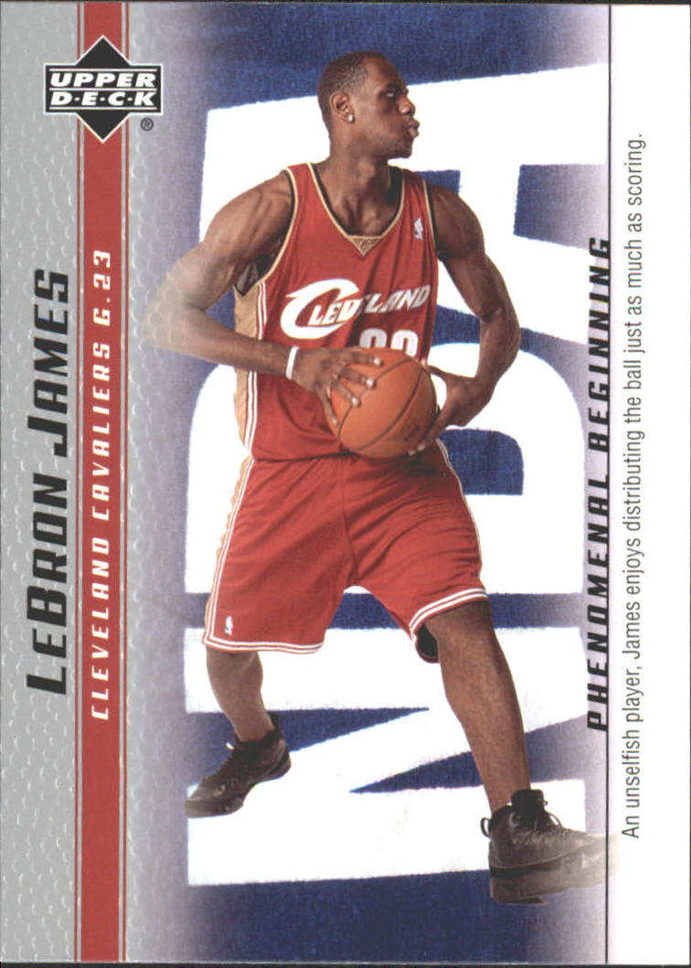 2003-04 Upper Deck Phenomenal Beginning LeBron James #15 LeBron James/An unselfish player
