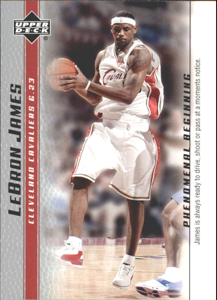 2003-04 Upper Deck Phenomenal Beginning LeBron James #16 LeBron James/James is always ready
