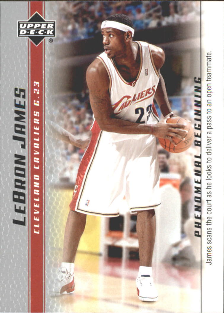 2003-04 Upper Deck Phenomenal Beginning LeBron James #17 LeBron James/James scans the court