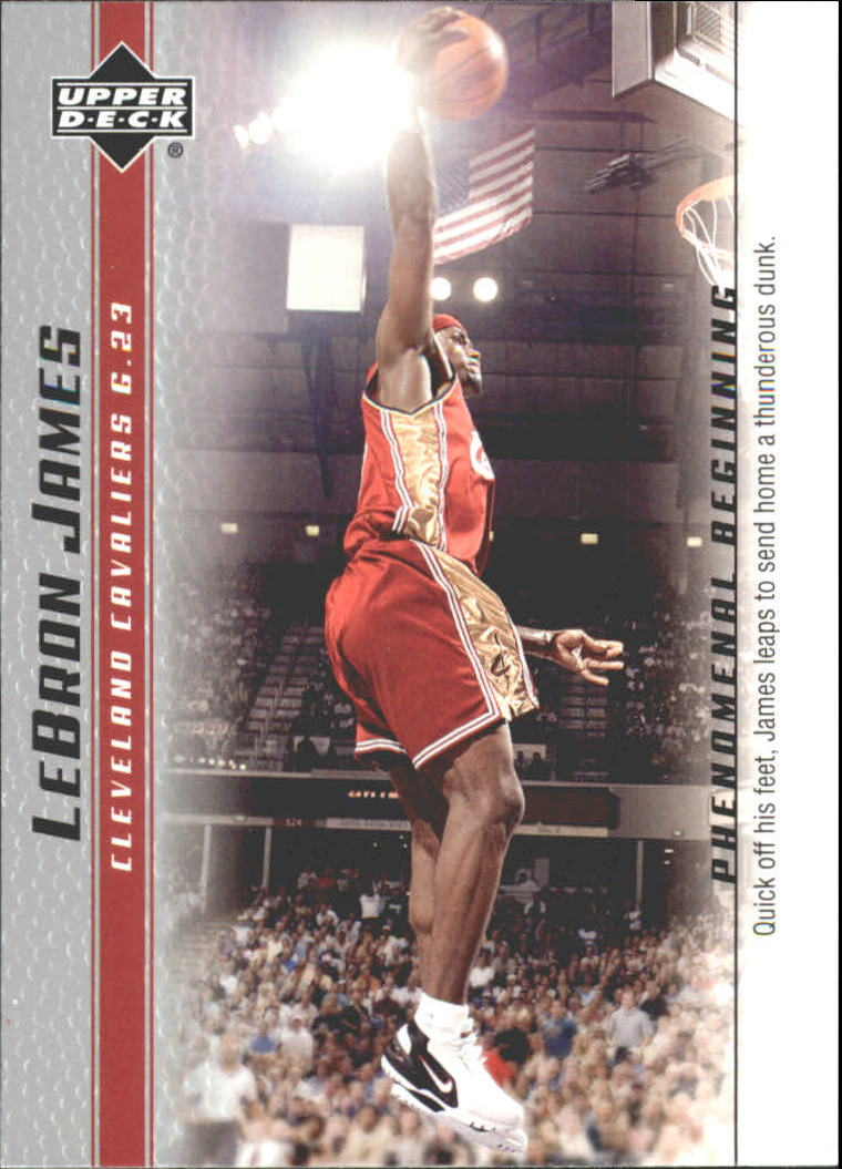 2003-04 Upper Deck Phenomenal Beginning LeBron James #18 LeBron James/Quick off his feet
