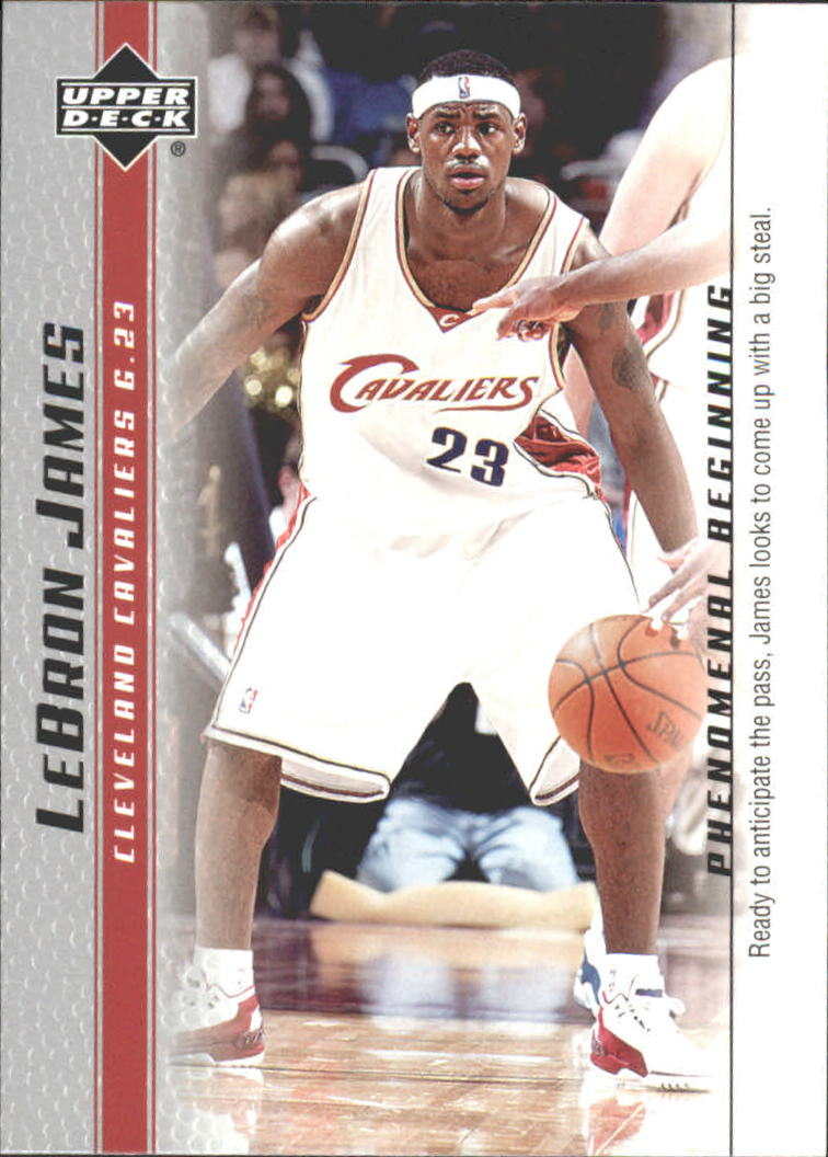 2003-04 Upper Deck Phenomenal Beginning LeBron James #19 LeBron James/Ready to anticipate