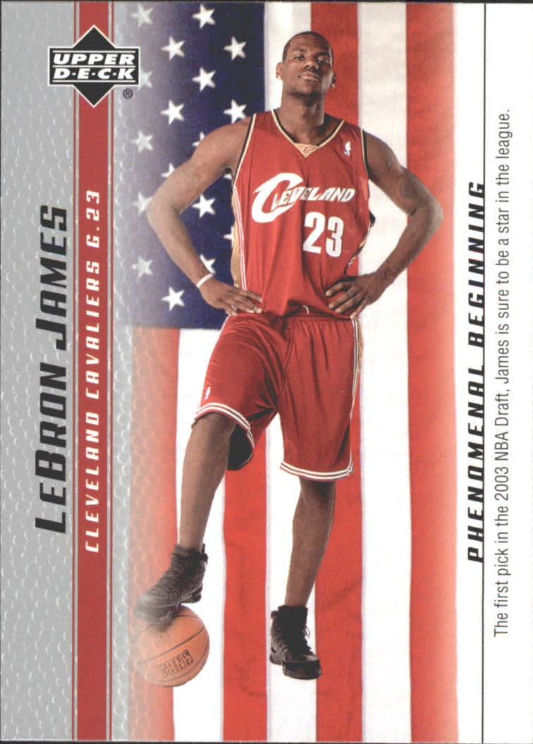 2003-04 Upper Deck Phenomenal Beginning LeBron James #20 LeBron James/The first pick