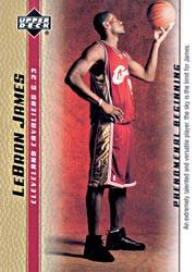 2003-04 Upper Deck Phenomenal Beginning LeBron James Gold #1 LeBron James/An extremely talented