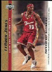 2003-04 Upper Deck Phenomenal Beginning LeBron James Gold #2 LeBron James/Handling the ball