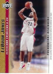 2003-04 Upper Deck Phenomenal Beginning LeBron James Gold #3 LeBron James/James quickly elevates